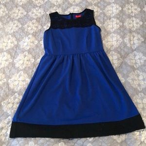 Never worn cobalt blue and black dress